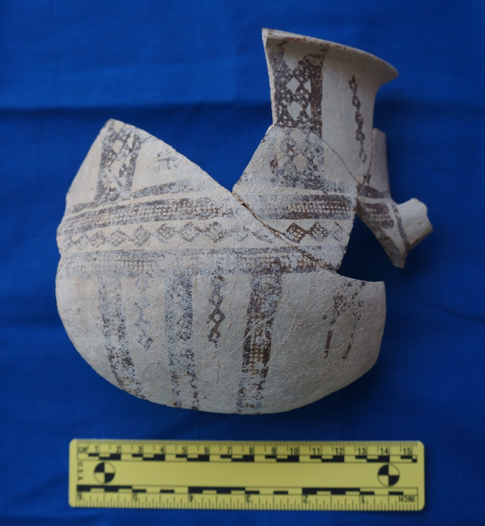Figure 2:  Part of a White Slip II krater recovered from Building XVI in 2012.